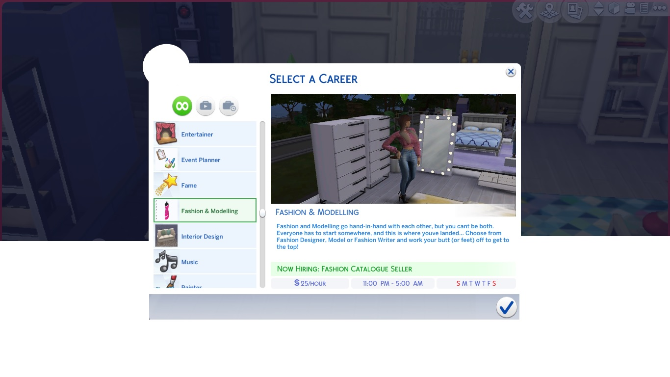Mod The Sims Fashion And Modelling Career Design Model Writer Updated 20th June 2020