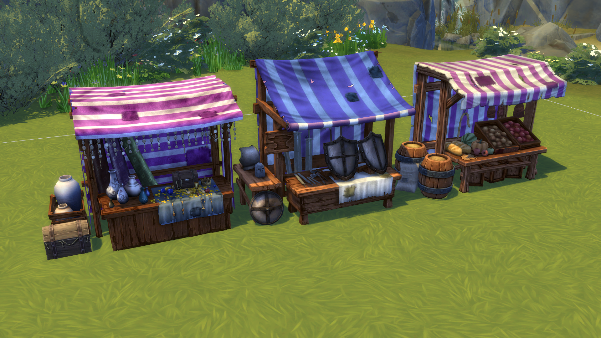 Mod The Sims Medieval Market Stuff Pack