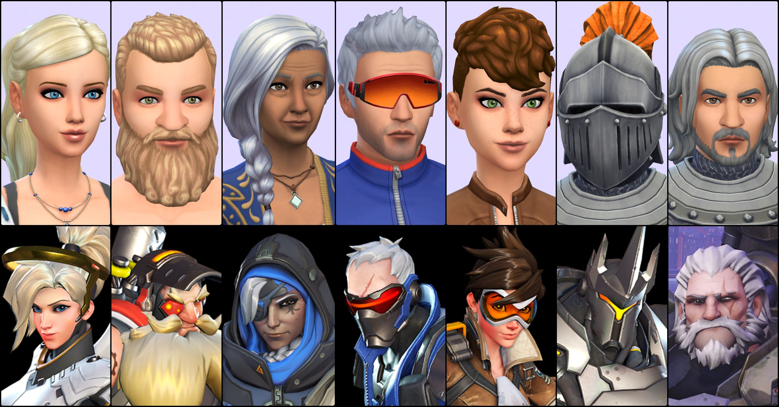Sims 4 Overwatch Characters