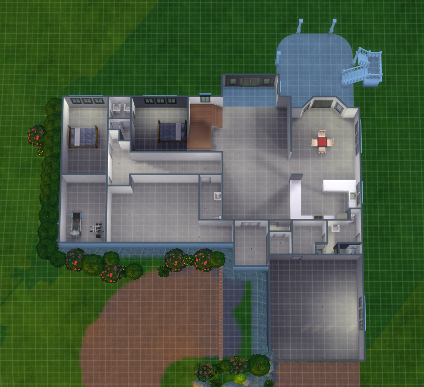 Sims Ranch House With Walk Out Basement, How To Make A Walkout Basement Sims 3