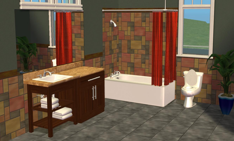 Mod The Sims Smallhouse Models Bathroom Set