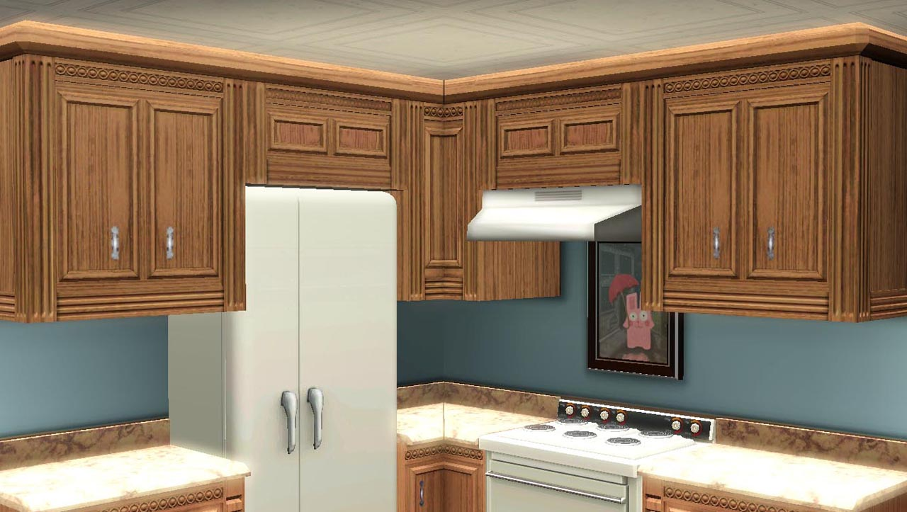 Maxis Match Kitchen Cabinets