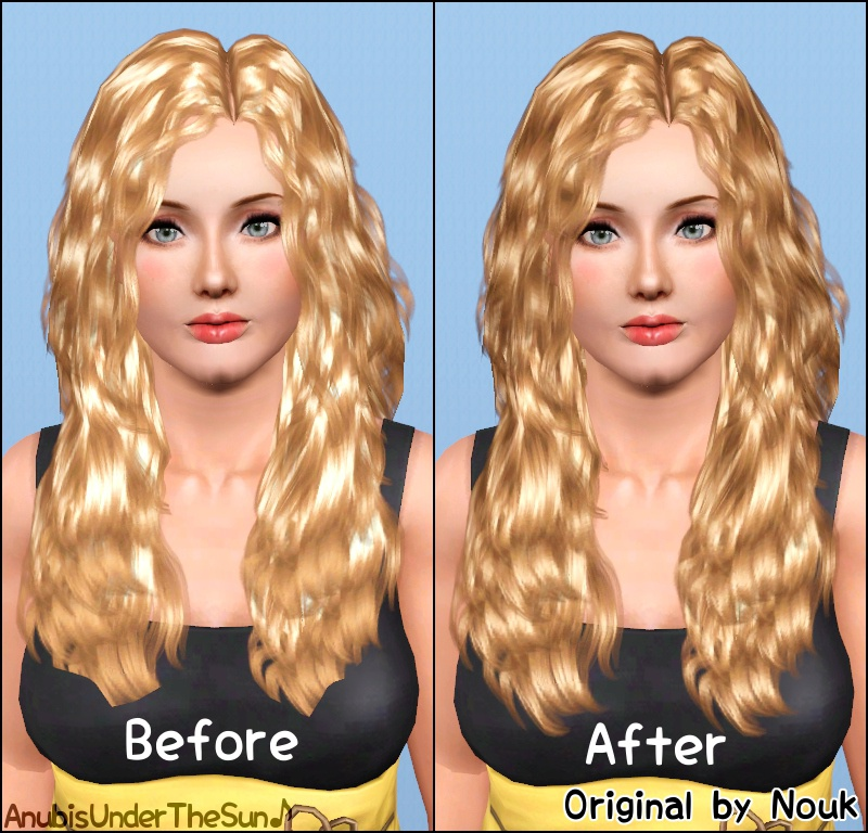 Mod The Sims Nouk S Long Wavy Hair Converted For Teen To Elder Updated