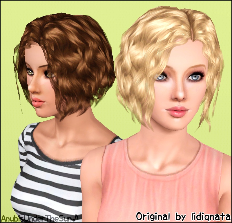 Mod The Sims Lidiqnata S Short Curly Hair Converted For All Ages And Both Genders
