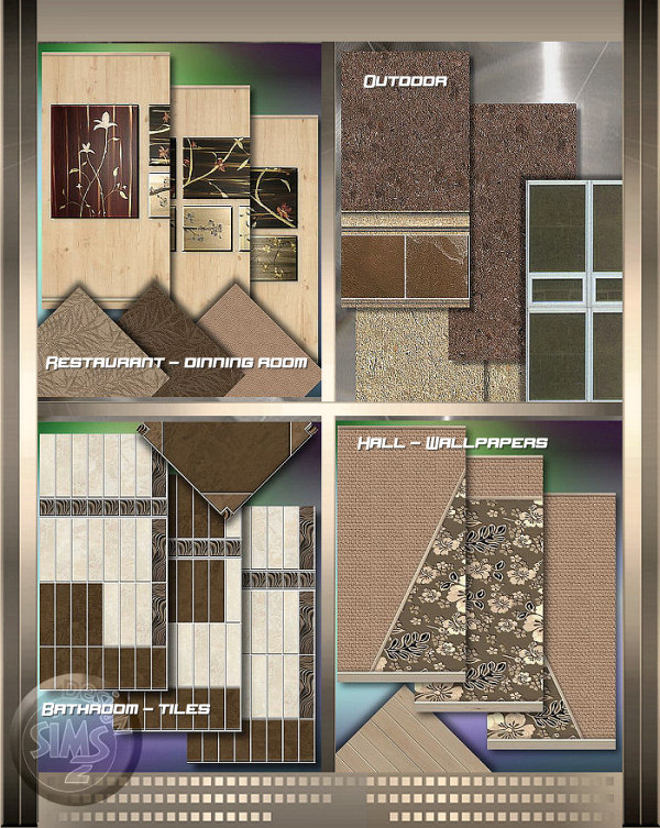 how tile a bathroom floor mod the sims project quot tobacco quot modern wallpapers amp floors 23388
