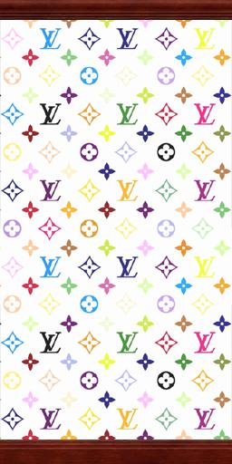 Mod The Sims White Rainbow Louis Vuitton Wallpaper With Crown And Kick Molding