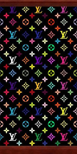 Mod The Sims Black Rainbow Louis Vuitton Wallpaper With Crown And Kick Molding