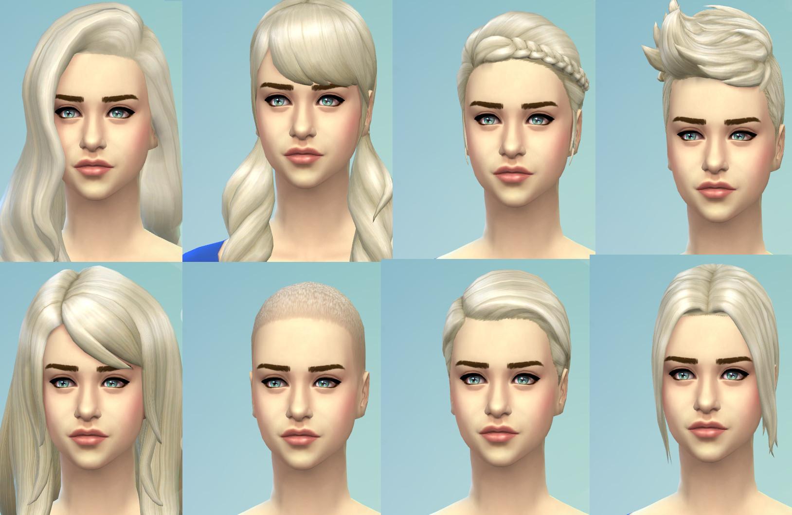 mod the sims - 'targaryen blonde' - new non-default colour for all
