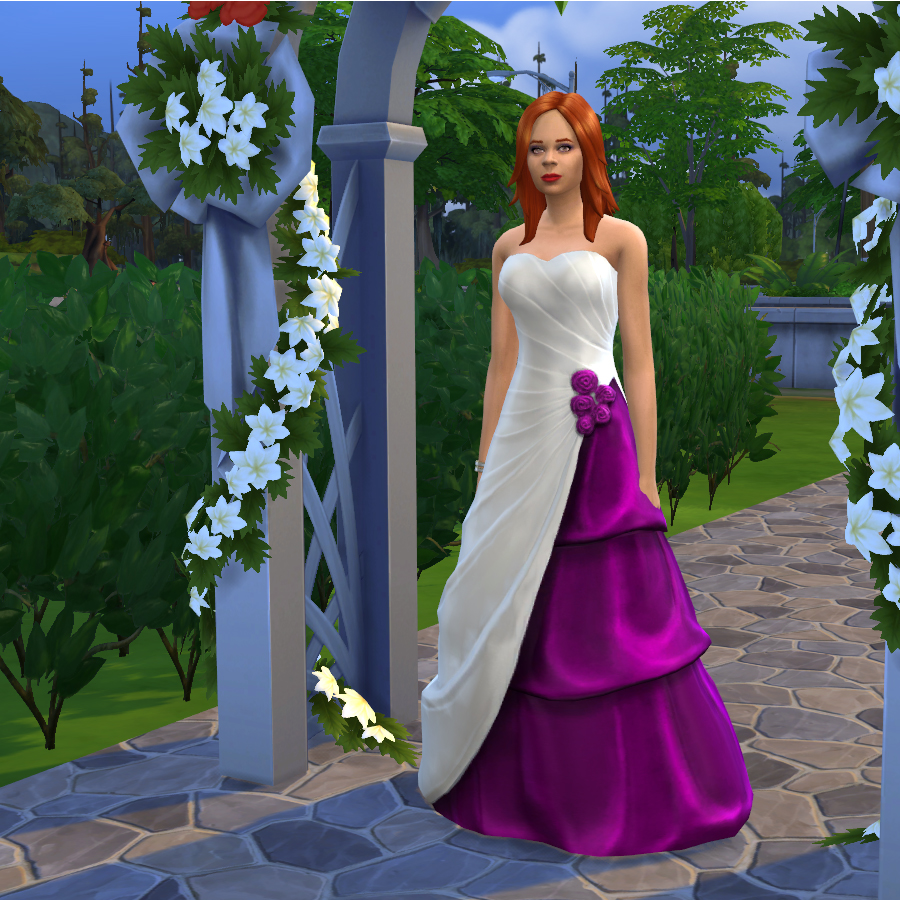 Mod The Sims   Spash of Colour Wedding Dresses