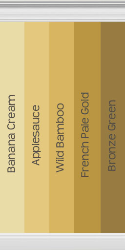 Gold Walls Inspired By Behr Paint
