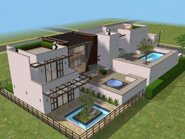 Desain Rumah Mewah The Sims 3 Cahaya Rumahku & Desain Rumah Modern The Sims 4 ~ Inspirasi Terbaik Desain Rumah ...