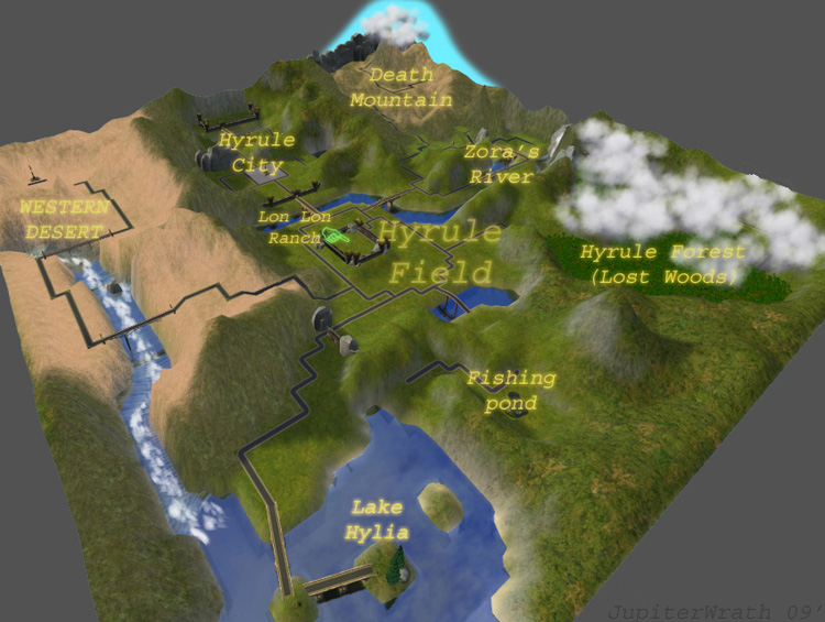 Mod The Sims The Complete Hyrule Terrain The Legend Of Zelda Ocarina Of Time Version 0 9