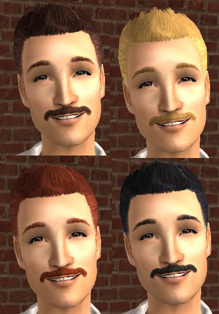 Mod The Sims Manly Hair Two Maxis Match Hairstyles For Adult Males