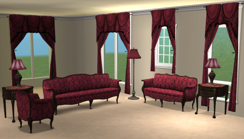 cranberry living room mod the sims damask livingroom sets 11082