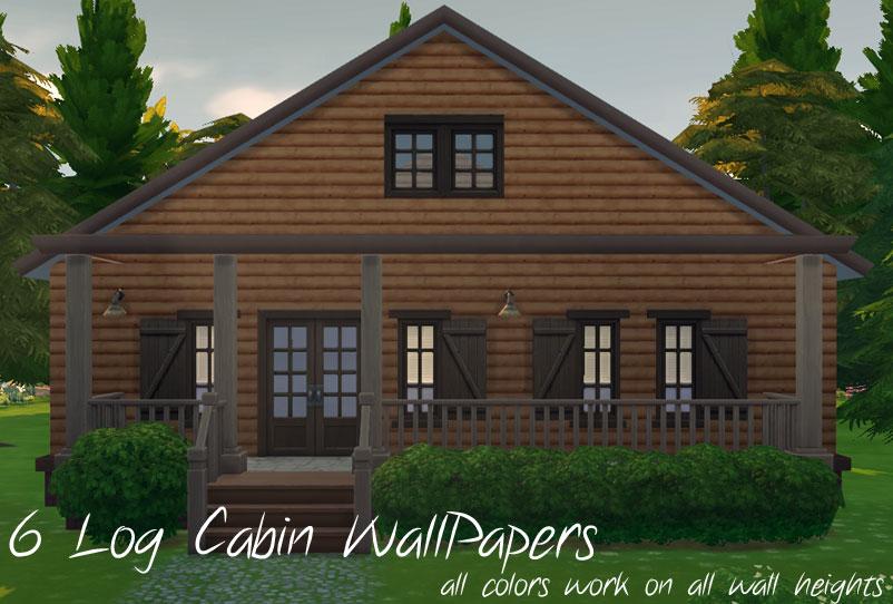 Mod The Sims Log Cabin Siding Set 6 Colors