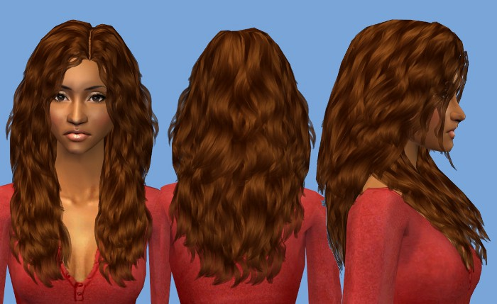 Mod The Sims Nouk Long Wavy Hair For Ladies Of All Ages