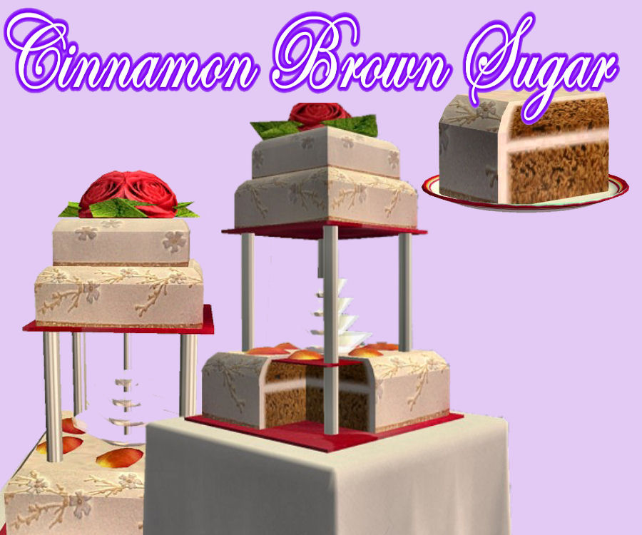 Mod The Sims It S Your Day Set One Of 6 Delicious Wedding Cakes