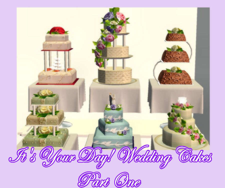 wedding cake sims 4 mod the sims it s your day set one of 6 delicious 24568