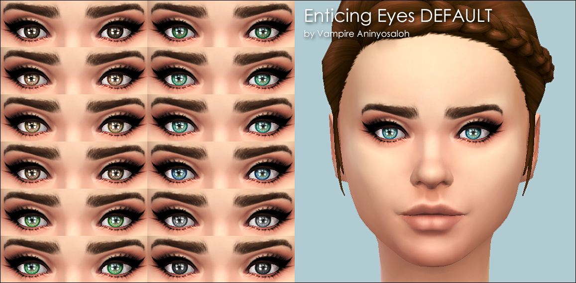 Mod The Sims Enticing Eyes 20 colors