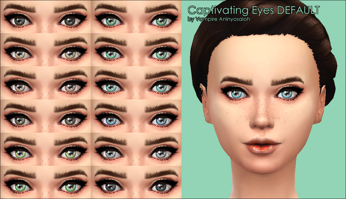 Mod The Sims - Captivating Eyes -20 colors-