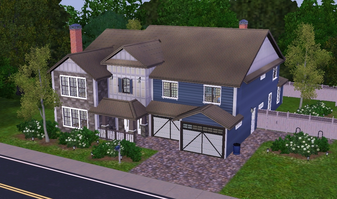 Mod The Sims New Build Series No Cc Suburban Craftsman