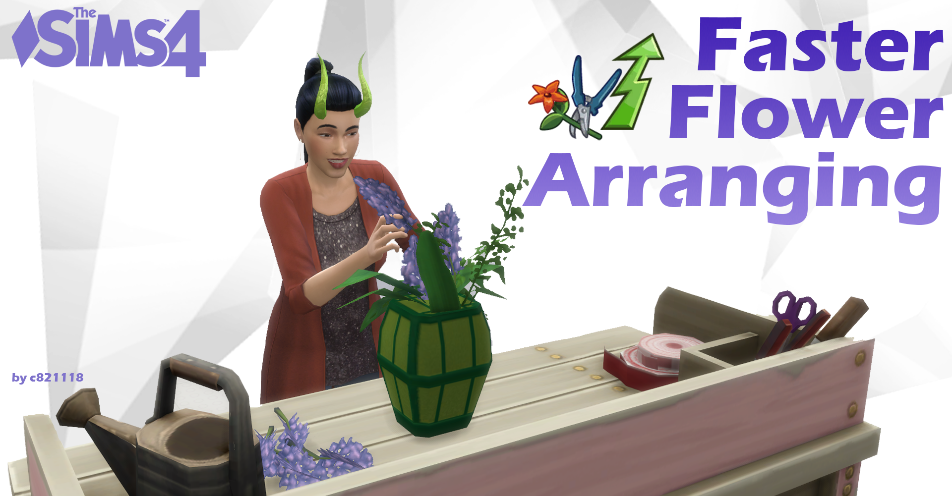 Mod The Sims Faster Flower Arranging 1 52 Faster 2x 4x Or Instant Complete