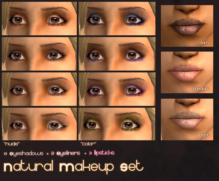 Mod The Sims Natural Makeup Set 8