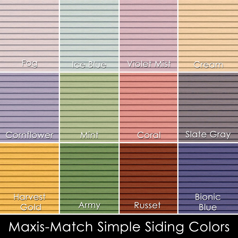 vinyl siding colors mod the sims lots o clapboard siding 29021