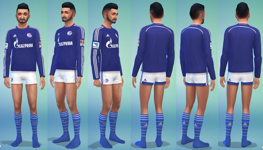 Mod The Sims - FC Schalke 04 Home Kit 2014/15 - long sleeved ...