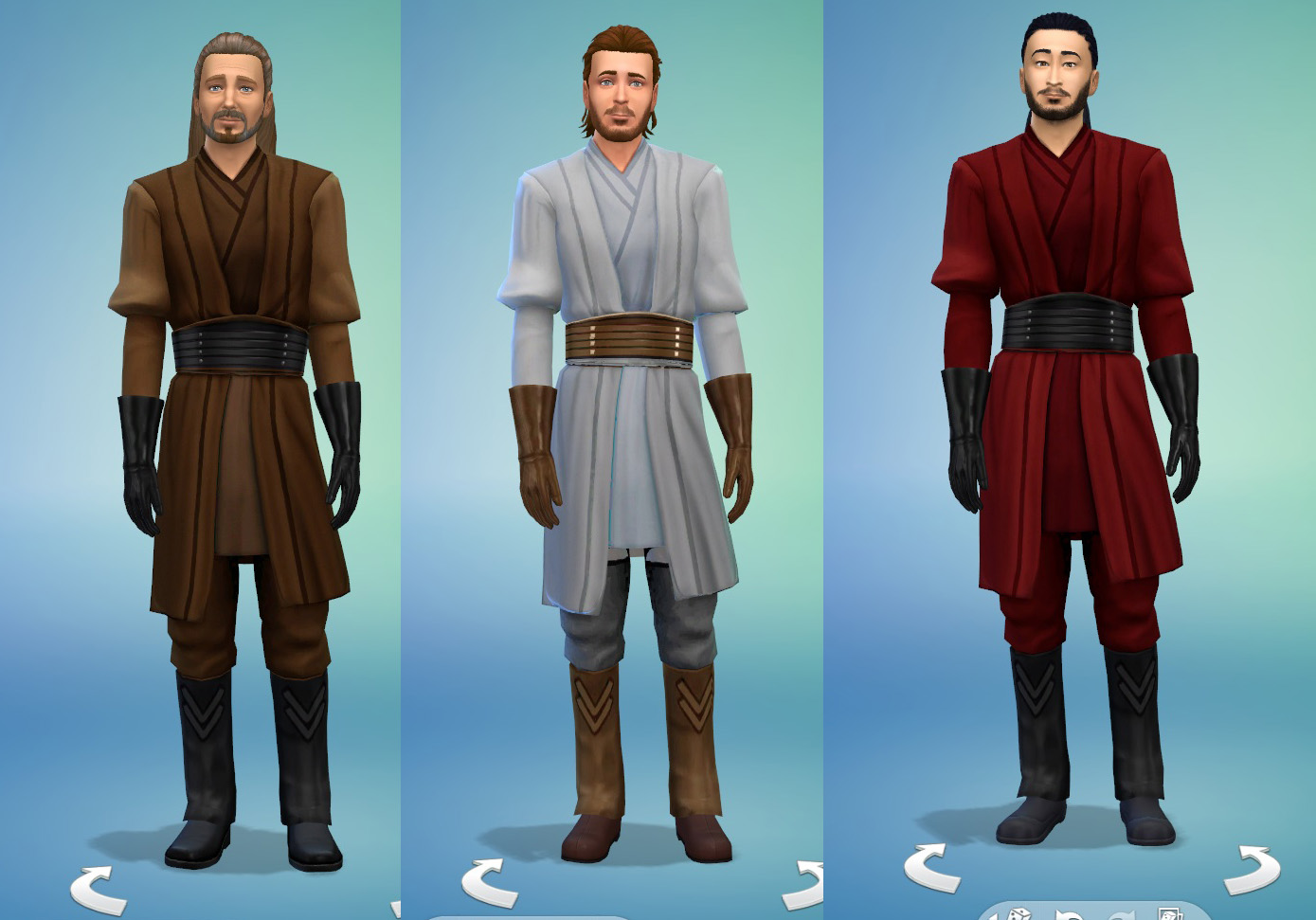 Mod The Sims Star Wars Jedi Robes Darth Maul Recolor Male And Female