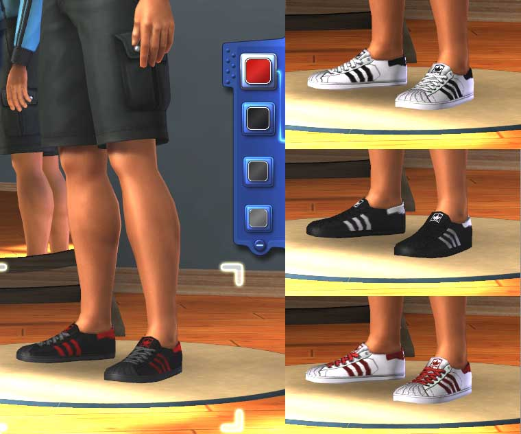 Mod The Sims - Adidas superstar sneakers