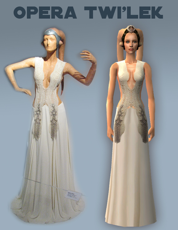 Mod The Sims - Opera Twi'lek Outfit