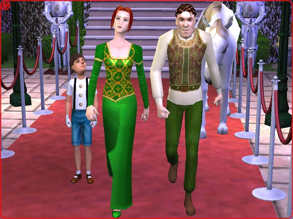 Mod The Sims Shrek And Fiona Human Form From Movie Shrek2