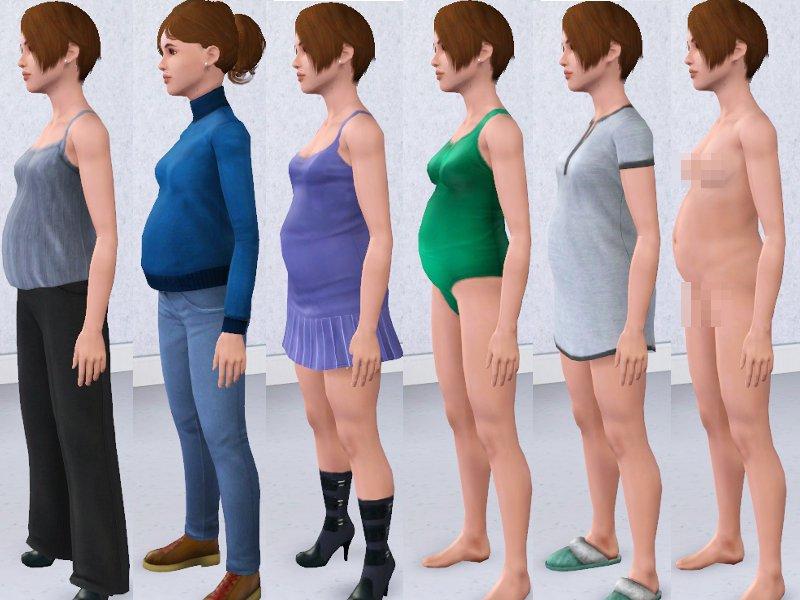 Mod The Sims Teen Female Maternity Wear