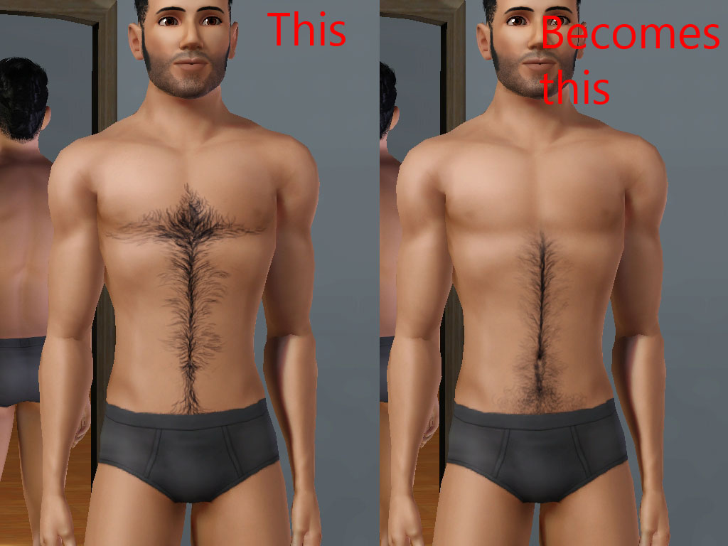 Mod The Sims Chest Hair Default And Non Default Texture Replacement
