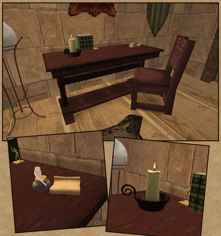 Mod the sims medieval furniture add ons for Medieval living room furniture