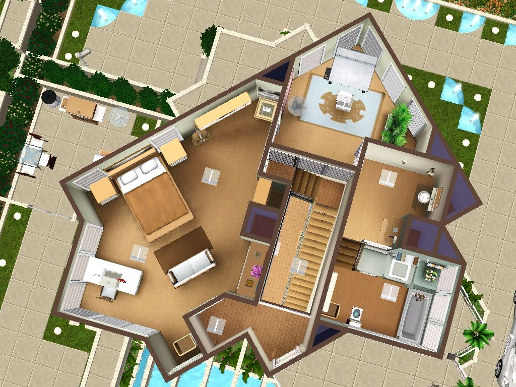 simple 3 bedroom house plans%0A Sims     Bedroom House Design  Home Design