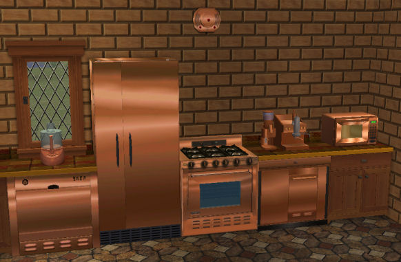 Mod The Sims Copper Textures For Base Game Kitchen Appliances
