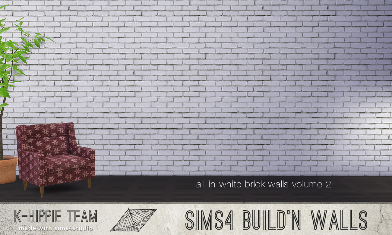 Mod The Sims 7 Brick Walls All White Volume 2