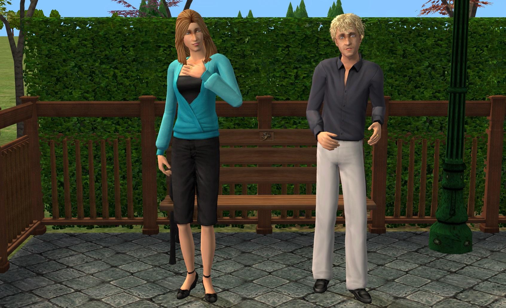 ModTheSims - EA's Kürt Rogiers & Julie Taton Sets: FIXED