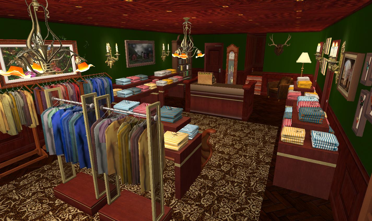 mod the sims kingsman tailors home business no cc. Black Bedroom Furniture Sets. Home Design Ideas