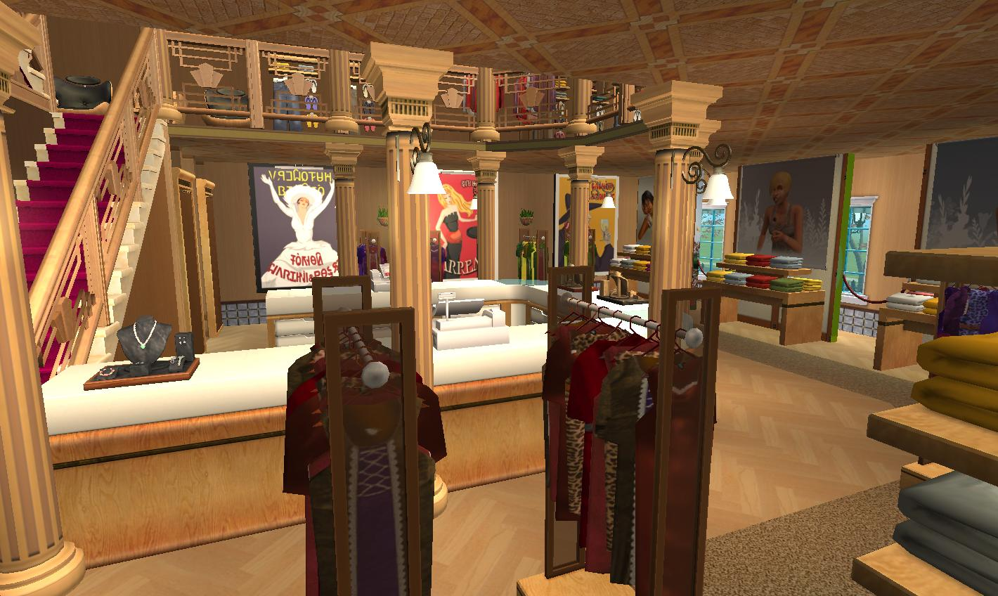 Mod the sims kingsman tailors home business no cc for Sims interior designs 1