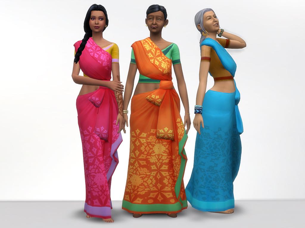 Mod The Sims Kind Of Saree