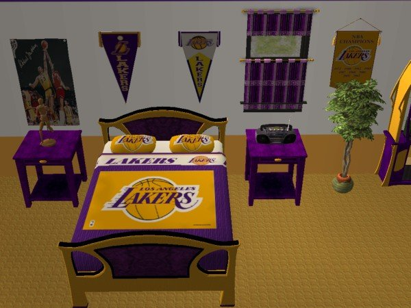 Mod The Sims La Lakers Bedroom For Nelo Ice