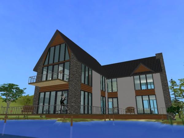 Mod The Sims - Grand Designs - The Loch House NO CC