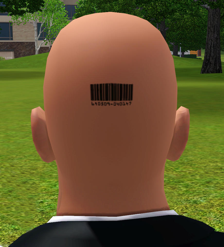 Mod The Sims Male Bald 47 Barcode Hair Style