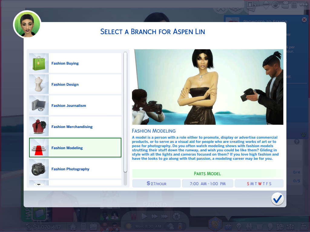 Mod The Sims Ultimate Fashionista Career Updated Added Modeling Track