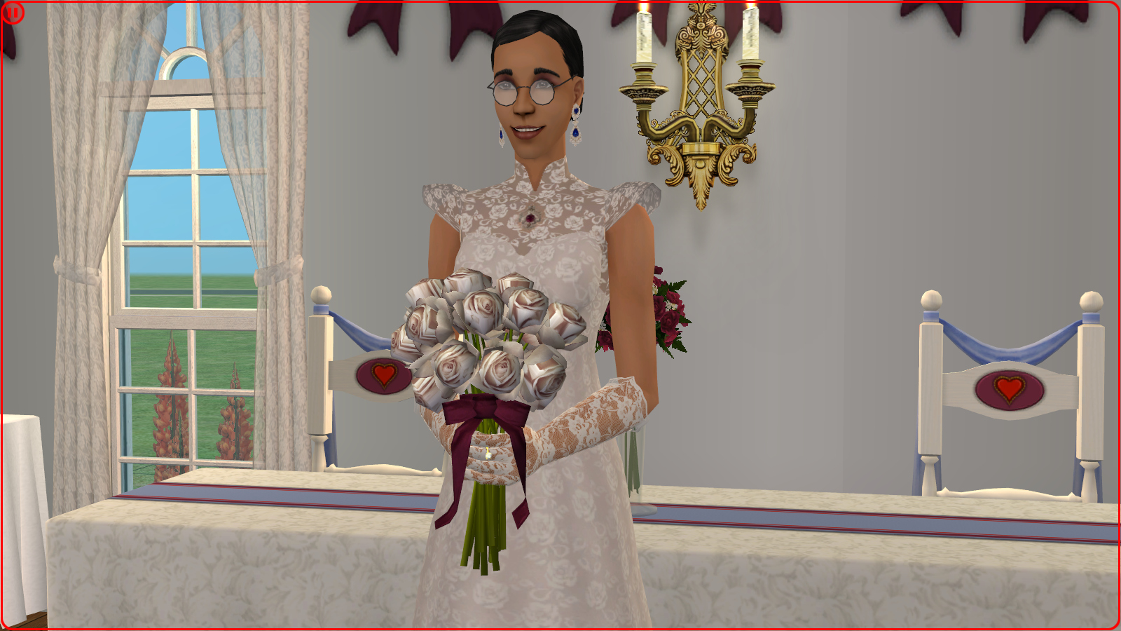 Mod The Sims   Vintage Lace and Rubies Cornelia's Wedding Dress