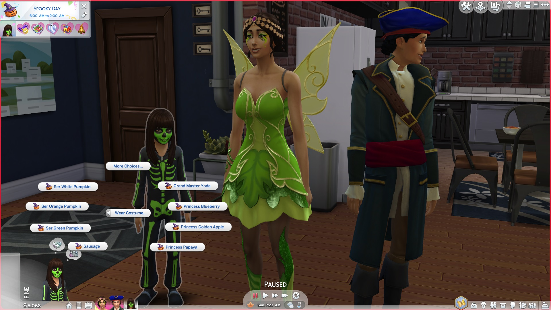 ModTheSims - More costumes for holiday tradition.