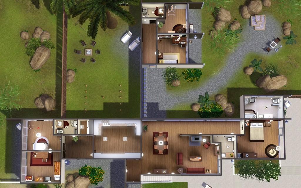 Mod The Sims - The Kaufmann House Kaufman House Floor Plan on the chadwick floor plans, side breeze floor plans, kaufman house diagrams, palm springs house plans,